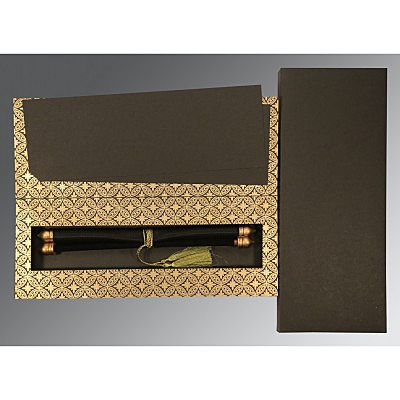 Black Velvet Wedding Invitation : SC-5008B - 123WeddingCards