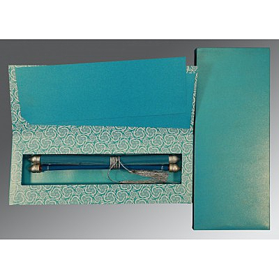 Blue Velvet Wedding Card : SC-5009F - 123WeddingCards