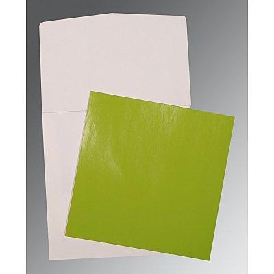 Green Glossy Wedding Invitations : P-0017 - 123WeddingCards