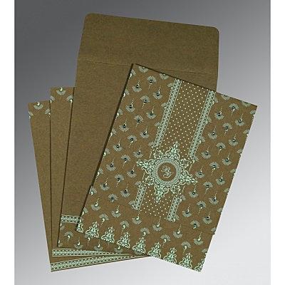 Green Matte Screen Printed Wedding Invitations : IN-8247E - 123WeddingCards