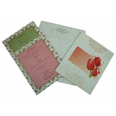 Ivory Matte Box Themed - Foil Stamped Wedding Invitation : S-1825 - 123WeddingCards