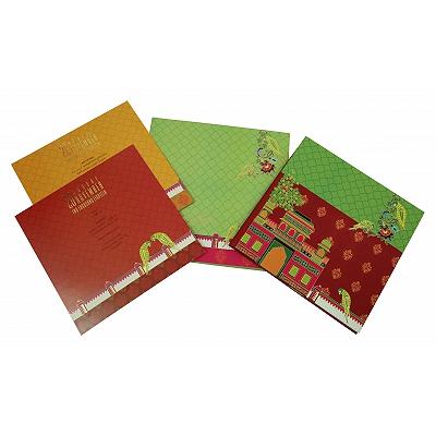 Ivory Matte Box Themed - Foil Stamped Wedding Invitation : S-1837 - 123WeddingCards