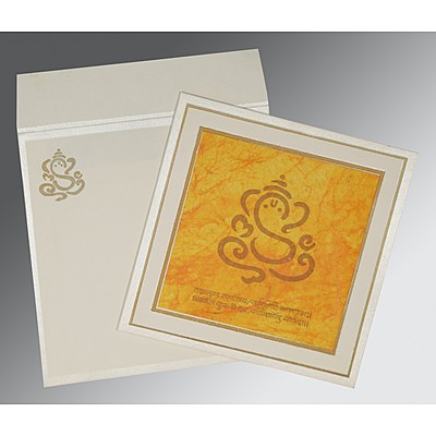 Ivory Matte Embossed Wedding Invitation : IN-2040 - 123WeddingCards