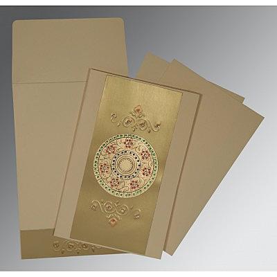 Ivory Matte Foil Stamped Wedding Invitations : C-1407 - 123WeddingCards