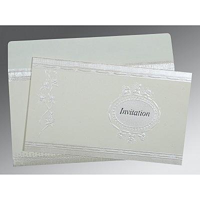 Ivory Matte Foil Stamped Wedding Card : D-1328 - 123WeddingCards