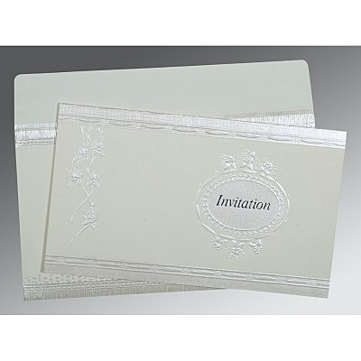 Ivory Matte Foil Stamped Wedding Card : I-1328 - 123WeddingCards