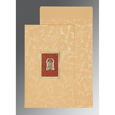 Ivory Matte Screen Printed Wedding Card : SO-1303 - 123WeddingCards