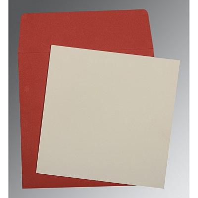 Ivory Matte Wedding Card : P-0003 - 123WeddingCards