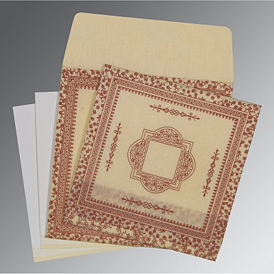 Ivory Wooly Glitter Wedding Card : D-8205O - 123WeddingCards