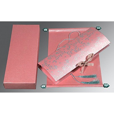 Pink Handmade Shimmer Wedding Invitation : SC-5007E - 123WeddingCards
