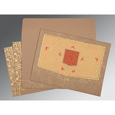Pink Matte Embossed Wedding Card : D-1394 - 123WeddingCards