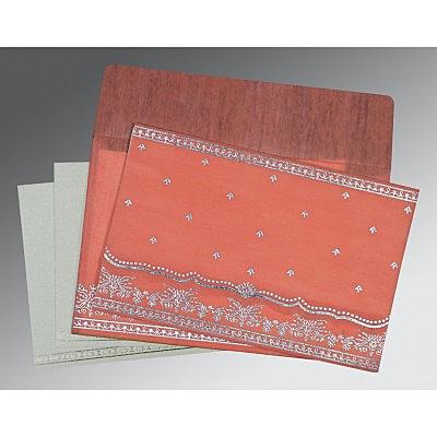 Pink Wooly Foil Stamped Wedding Invitation : G-8241G - 123WeddingCards