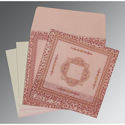 Pink Wooly Glitter Wedding Invitations : D-8205J - 123WeddingCards