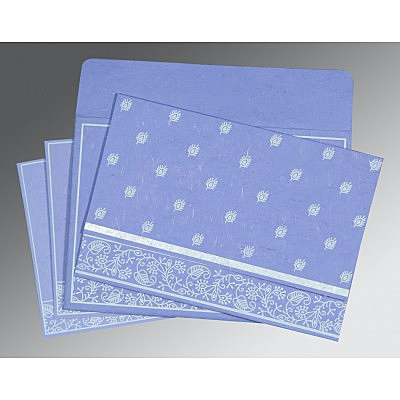 Purple Handmade Silk Screen Printed Wedding Invitations : W-8215B - 123WeddingCards