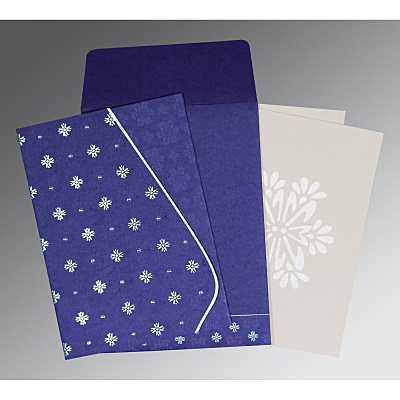 Purple Matte Floral Themed - Foil Stamped Wedding Invitation : SO-8237A - 123WeddingCards