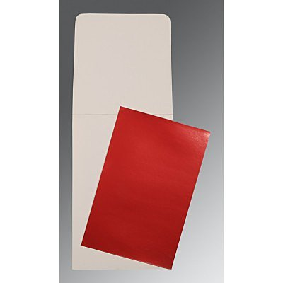 Red Glossy Wedding Card : P-0007 - 123WeddingCards