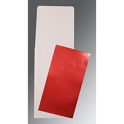 Red Glossy Wedding Card : P-0010 - 123WeddingCards