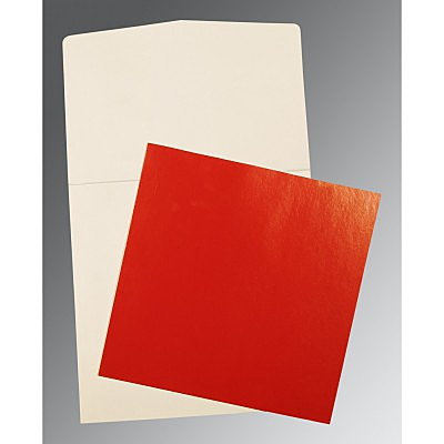 Red Glossy Wedding Card : P-0018 - 123WeddingCards