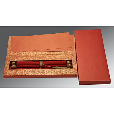Red Velvet Wedding Card : SC-5009B - 123WeddingCards