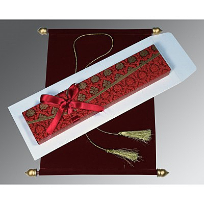Red Velvet Wedding Invitation : SC-5016F - 123WeddingCards