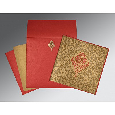 Shimmery Damask Themed - Laser Cut Wedding Invitation : I-1494 - 123WeddingCards