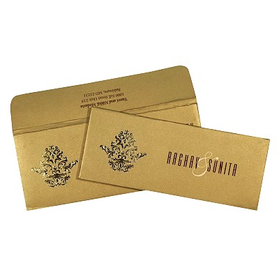 Shimmery Pocket Themed - Screen Printed Wedding Card : C-1727 - 123WeddingCards