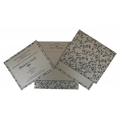 Shimmery Screen Printed Wedding Invitations : C-804E - 123WeddingCards