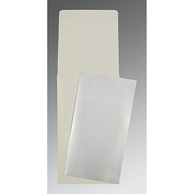 SILVER SHIMMERY WEDDING CARD : P-0011 - 123WeddingCards